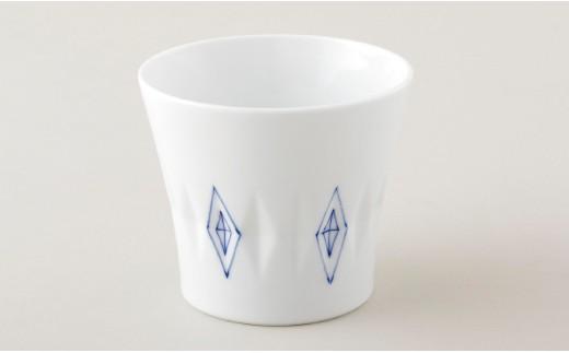 P515 染付菱彫ロックグラス【800pt】