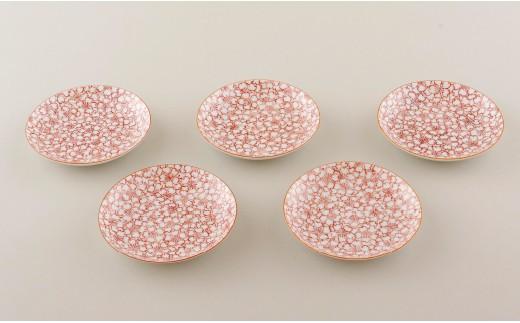 P506 赤絵桜豆皿(5枚組)【1,100pt】