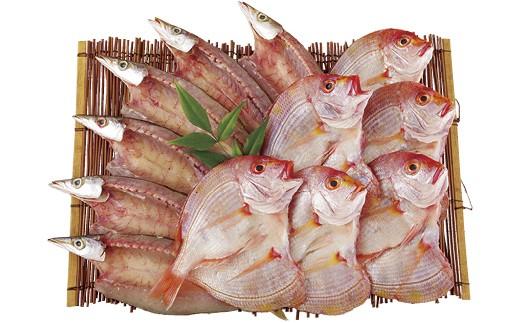 長崎県産の「れんこだい」と「かます」を丁寧に加工して、秘伝の味に仕上げた逸品一夜干しです
