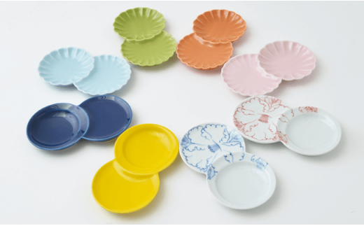 PA46 【波佐見焼】使い方いろいろ♪カラフル小分け豆皿8枚セット【福田陶器店】-2