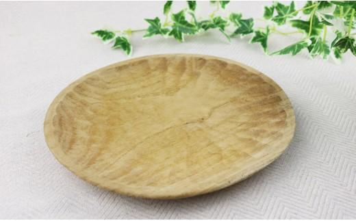 ハマセンダンの木で作った楕円形のパン皿(1枚)