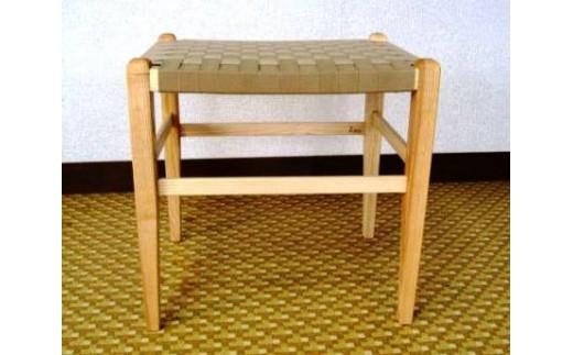 70-(4)家具工房ALKU「Aスツール01【タモ№2】」