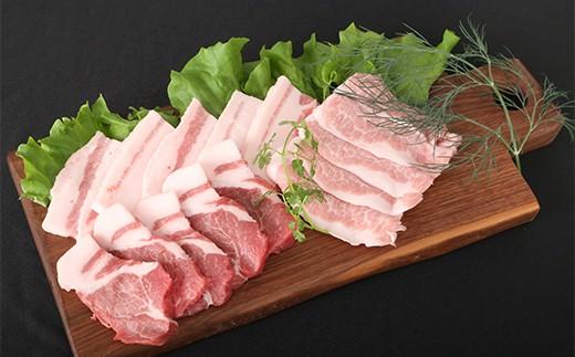 BH001 佐賀県産肥前さくらポーク焼肉セット 総計1kg