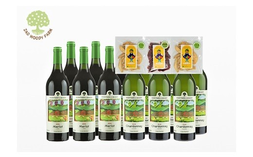 0062-113 本格ワイン充実赤白飲み比べ12本と無添加ドライフルーツ3袋セット