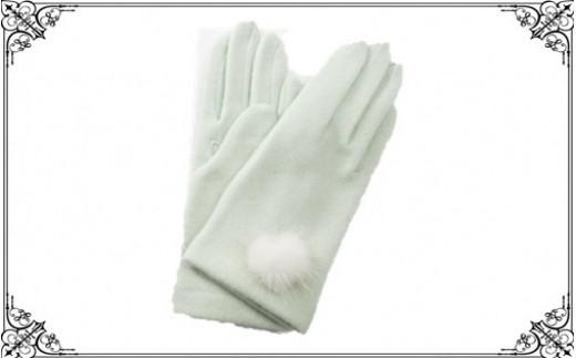 766 子供用カシミヤ縫手袋(7~8才児用)<手囲い17~18cm> Green
