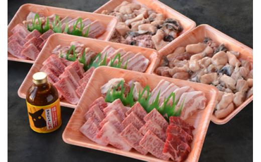 C-2 【肉質日本一!】鳥取和牛とホルモン 鶏・豚の焼き肉セット