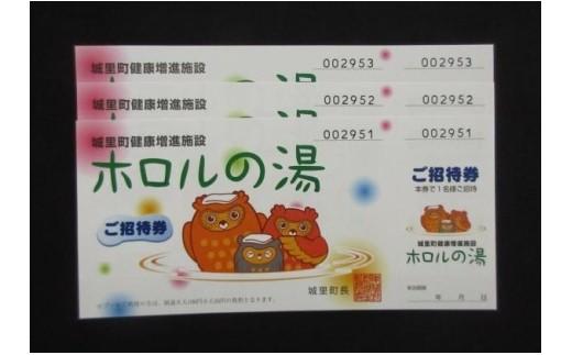 No.B-14 ホロルの湯 招待券3枚