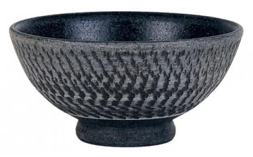 【A151】珠洲焼(飛びカンナごはん茶碗)