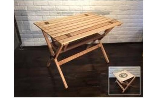 No.J-1 折り畳み式ハイテーブル&フラワーチェア