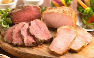 [№5545-0086]大和牛と大和ポークのロースト食べ比べ 計500g ◆ソース付き