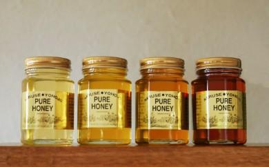 [№5749-0249]ナルセ養蜂場 北海道産はちみつ食べ比べ4種セット