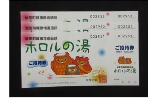 No.C-8 ホロルの湯 招待券6枚