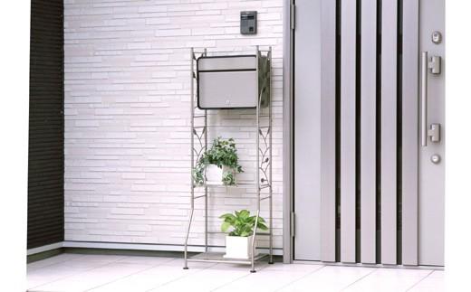 【02-062】ガーデンポストスタンド チタングレー