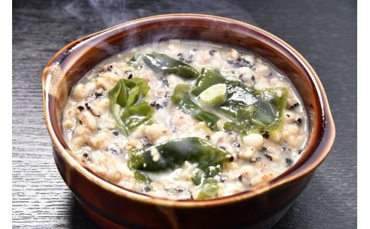古代米リゾット風わかめスープ
