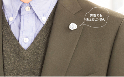 DB07 【波佐見焼】陶磁器アクセサリー6点セット(バラ青×チョウ黄・ピアスver.)【正光窯】-6