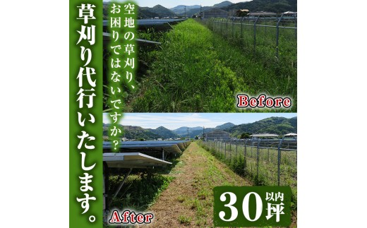 A-440 空地の草刈り代行サービス 30坪以内(対象地域:6市)