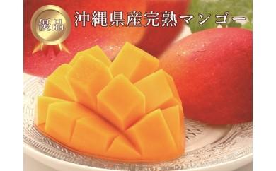 <限定>【優品】沖縄県産完熟マンゴー 約1kg(2~3個)
