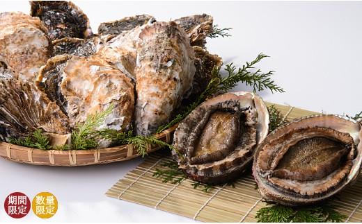 【E15】東紀州の海女さんセット(殻盛りウニ・アワビ・サザエ・あおさ)
