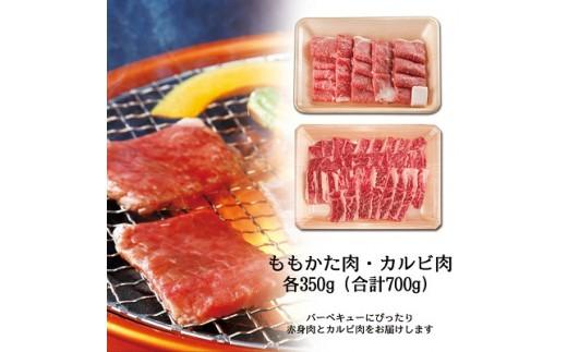 飛騨牛BBQセット ・カルビ350g ・もも かた肉 焼き肉用350g