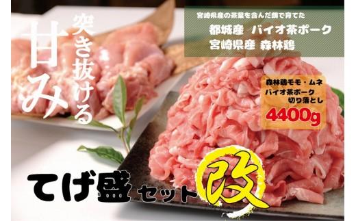 MK-3613_都城産「バイオ茶ポーク」&宮崎県産「森林鶏」てげ盛セット改 4.4kg