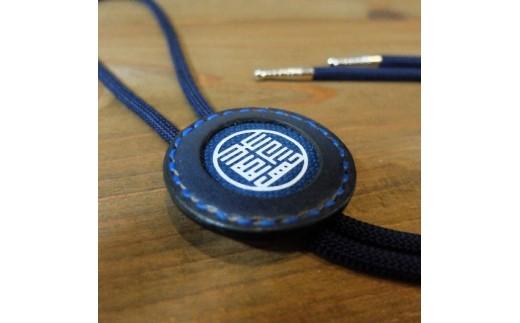 Bb007 阿波レザー「RONIN」阿波藍マーク 棒ネクタイ