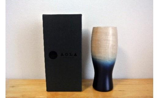 D012 藍染木製ビアタンブラー