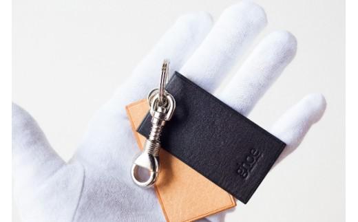Aa015 本藍染イタリアンレザーのキーホルダー【本革・手縫い】