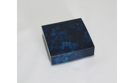 R002 藍の玉手箱(かまぼこ型小箱)