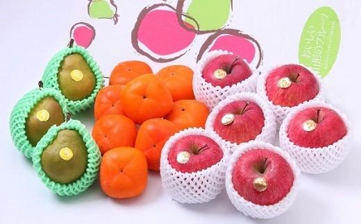 0103-107 フルーツセット(柿、ラ・フランス、りんご)5kg