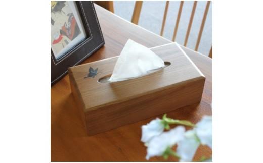 Bb011 【細部までこだわった技の結晶】木製ティッシュケース(エンジュ材)