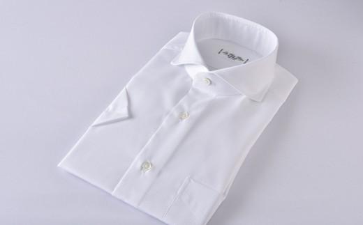 [№5636-0300]【限定商品】HITOYOSHI半袖シャツ紳士用カッタウェイ(白)