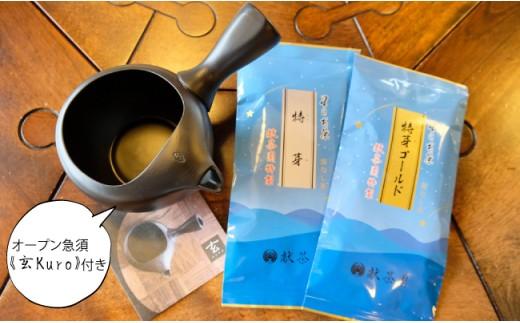 【オープン急須~玄Kuro~】急須 &特製茶セット