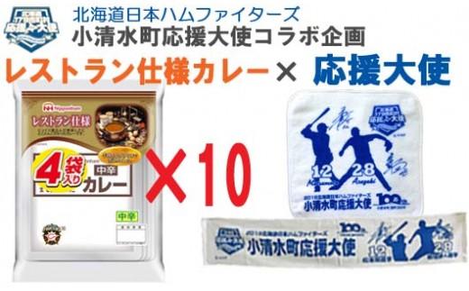 【1016】 レストラン仕様カレー40食入 ファイターズコラボグッズ付