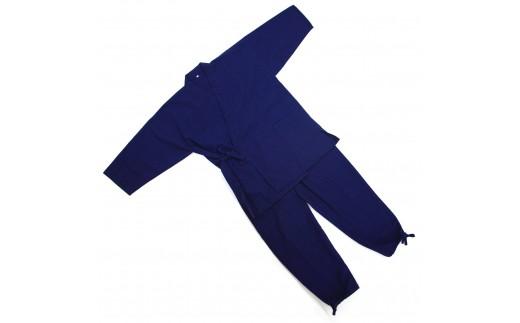 H003a 藍染 作務衣(LL)