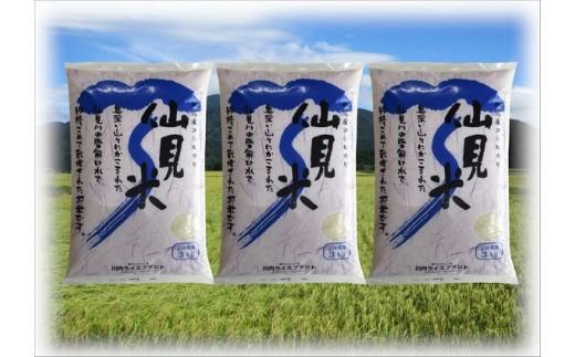 【G040】【H30年産米】特別栽培米コシヒカリ「仙見米」9kg