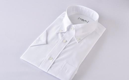 [№5636-0296]【限定】HITOYOSHI半袖シャツ紳士用ボタンダウン(白)