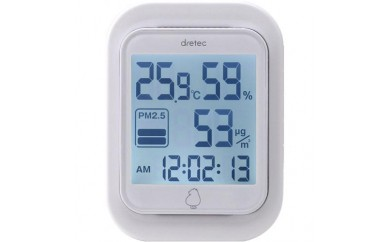 PM2.5モニター付 温湿度計 ドリテック