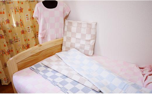 4-006 ブロックチェック(風通)織物