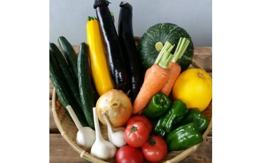 赤村特産物センター発。お米(夢つくし)と旬の野菜セット
