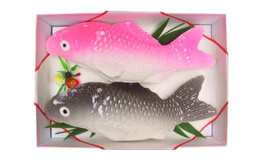 74-03長岡慶事用粉菓子(緋鯉・真鯉)