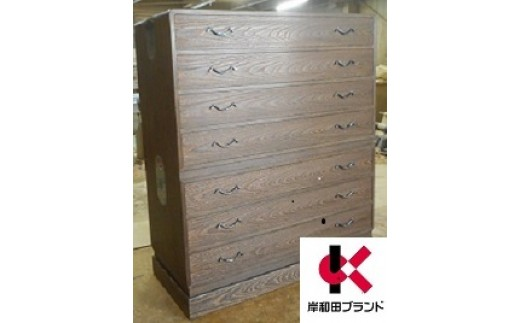 H4-03.総桐小袖箪笥焼桐板目7段