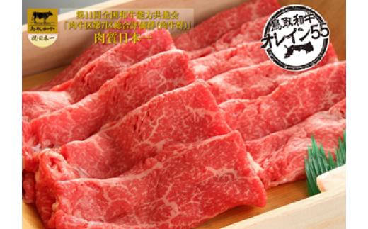 B-1【肉質日本一!】鳥取和牛オレイン55 肩またはもも すきやき用