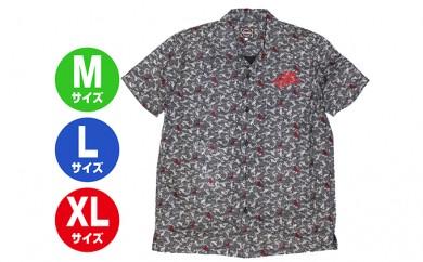[№5631-0292]GONZO SURF オリエンタルボタンシャツ ネイビー