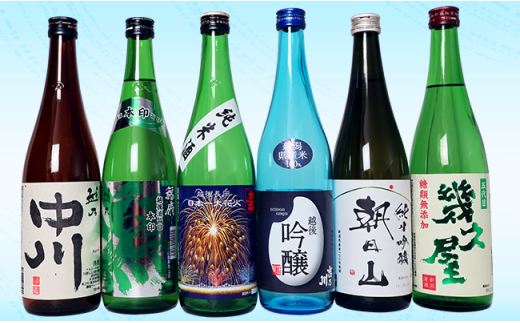 2-041 夏季限定 越後銘門酒会飲み比べ(720ml×6本)