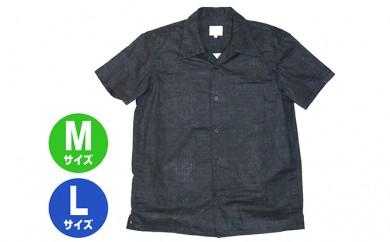 [№5631-0290]GONZO SURF 和生地ボタンシャツ 墨(スミ)