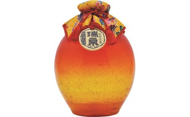★New★瑞泉古酒『琉球ガラス1升- 橙 -』