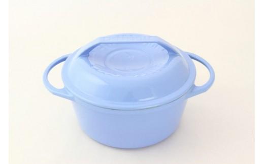 1807003 リロンデル ステンレス鋳物ホーロー鍋『色選択』 深型20cm (水色)