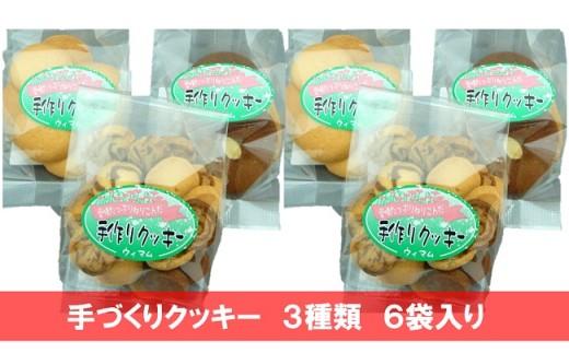 18-13 手づくりクッキー 6袋(3種)