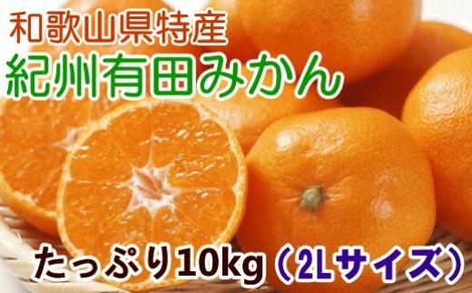 [№5745-0793]味自慢 紀州有田みかん赤秀2Lサイズ10kg