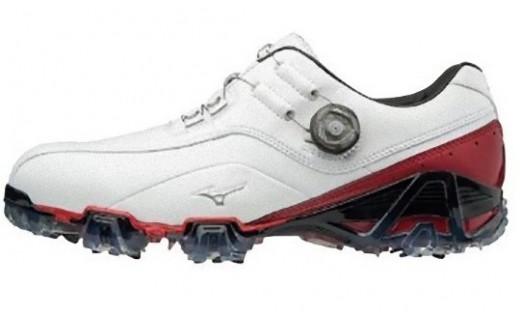 【50016】ジェネム008ボア EEE(ゴルフ)[メンズ]ホワイト・レッド